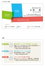 2つの会社を経営する中野博の名刺デザインへの提案