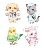 koitoさんの春日丘動物病院(犬、猫、うさぎ、小鳥)のキャラクターデザインへの提案