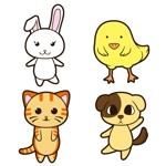 funinekoさんの春日丘動物病院(犬、猫、うさぎ、小鳥)のキャラクターデザインへの提案