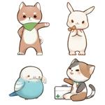 psyche6150さんの春日丘動物病院(犬、猫、うさぎ、小鳥)のキャラクターデザインへの提案