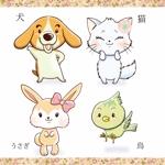 hakkaさんの春日丘動物病院(犬、猫、うさぎ、小鳥)のキャラクターデザインへの提案