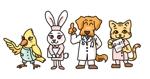 katty_catさんの春日丘動物病院(犬、猫、うさぎ、小鳥)のキャラクターデザインへの提案