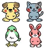 namikiさんの春日丘動物病院(犬、猫、うさぎ、小鳥)のキャラクターデザインへの提案