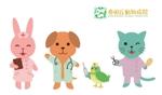 kei_tefさんの春日丘動物病院(犬、猫、うさぎ、小鳥)のキャラクターデザインへの提案
