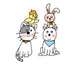sana0520さんの春日丘動物病院(犬、猫、うさぎ、小鳥)のキャラクターデザインへの提案