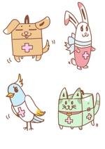 sirosanさんの春日丘動物病院(犬、猫、うさぎ、小鳥)のキャラクターデザインへの提案