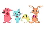 andy_kimさんの春日丘動物病院(犬、猫、うさぎ、小鳥)のキャラクターデザインへの提案