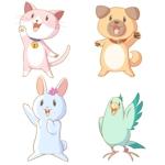 hsm_sgr1さんの春日丘動物病院(犬、猫、うさぎ、小鳥)のキャラクターデザインへの提案