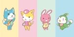 negitorochanさんの春日丘動物病院(犬、猫、うさぎ、小鳥)のキャラクターデザインへの提案