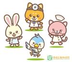 yellow_frogさんの春日丘動物病院(犬、猫、うさぎ、小鳥)のキャラクターデザインへの提案