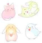 ringomaoさんの春日丘動物病院(犬、猫、うさぎ、小鳥)のキャラクターデザインへの提案