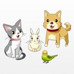 umenosukeさんの春日丘動物病院(犬、猫、うさぎ、小鳥)のキャラクターデザインへの提案