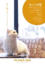 saconさんの猫カフェの店頭ポスターデザインへの提案