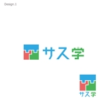 Utopiaさんの新しい教育コンテンツ「サス学」のロゴ制作への提案