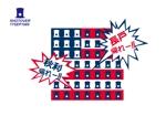 printfactoryさんの昨年再放送された20年以上昔の人気TV番組「アメリカ横断ウルトラクイズ」の1場面をロゴTシャツにしたいへの提案
