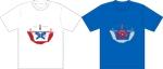 tugejiさんの昨年再放送された20年以上昔の人気TV番組「アメリカ横断ウルトラクイズ」の1場面をロゴTシャツにしたいへの提案