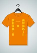 io-graphicsさんの昨年再放送された20年以上昔の人気TV番組「アメリカ横断ウルトラクイズ」の1場面をロゴTシャツにしたいへの提案