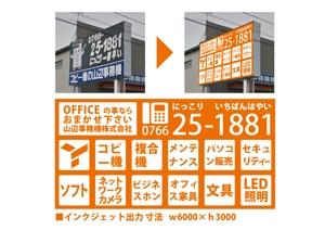 a-monさんの長年コピー機で商売してきたが、イメージを変えたい『事務機会社』の看板への提案