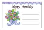 chachaminaさんの誕生日ギフトに同封するメッセージカードのデザイン【継続依頼あり】への提案