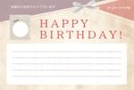 dfhatch8さんの誕生日ギフトに同封するメッセージカードのデザイン【継続依頼あり】への提案