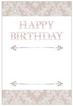 Mrs_catさんの誕生日ギフトに同封するメッセージカードのデザイン【継続依頼あり】への提案