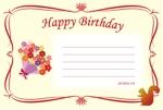 Makiko-Kohnoさんの誕生日ギフトに同封するメッセージカードのデザイン【継続依頼あり】への提案