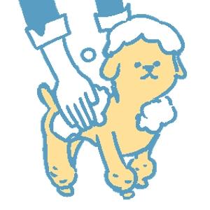 okano_sさんのペット(犬)をシャンプーしているイラスト作成への提案