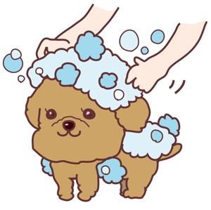 MikiKiharaさんのペット(犬)をシャンプーしているイラスト作成への提案