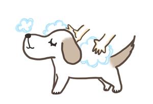 sonorahさんのペット(犬)をシャンプーしているイラスト作成への提案