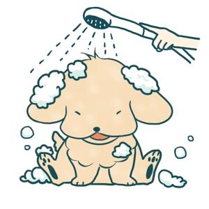 genryuusaimakiさんのペット(犬)をシャンプーしているイラスト作成への提案