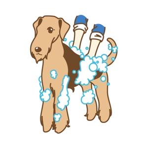 mages_staffさんのペット(犬)をシャンプーしているイラスト作成への提案