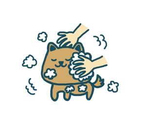 omame113さんのペット(犬)をシャンプーしているイラスト作成への提案