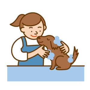 naka_illさんのペット(犬)をシャンプーしているイラスト作成への提案