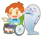 車椅子の男の子とあざらしをキャラとしてラインスタンプを作成してほしいへの提案