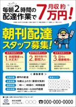 aerialさんの西日本新聞配達スタッフ募集チラシのデザイン/当選報酬45,360円 参加報酬ありへの提案