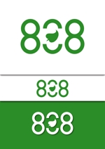 divinaさんの青果コーナー「808」(ハチ・ゼロ・ハチ)のロゴへの提案