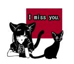黒猫コスチュームを着た女の子のLINEスタンプ作成への提案