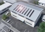 太陽光パネルを工場の屋根への設置したイメージ図作成への提案