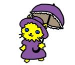 koromoon5さんのふわふわ長毛の猫の2頭身キャラクターデザインをお願いいたしますへの提案