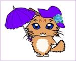 tycarikawaさんのふわふわ長毛の猫の2頭身キャラクターデザインをお願いいたしますへの提案