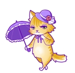 oohama_ashibitさんのふわふわ長毛の猫の2頭身キャラクターデザインをお願いいたしますへの提案