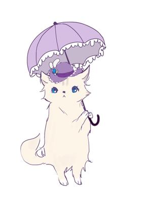 eriiriaさんのふわふわ長毛の猫の2頭身キャラクターデザインをお願いいたしますへの提案