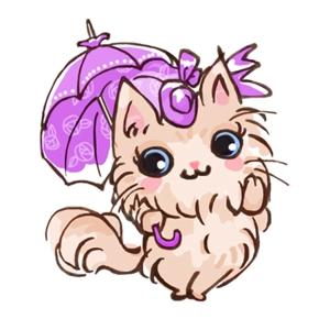 jamnaoo7370さんのふわふわ長毛の猫の2頭身キャラクターデザインをお願いいたしますへの提案