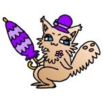 dj-machiさんのふわふわ長毛の猫の2頭身キャラクターデザインをお願いいたしますへの提案