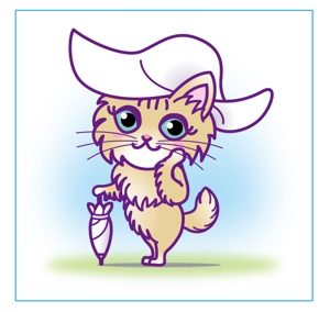 toko18さんのふわふわ長毛の猫の2頭身キャラクターデザインをお願いいたしますへの提案
