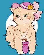 momokoxxさんのふわふわ長毛の猫の2頭身キャラクターデザインをお願いいたしますへの提案