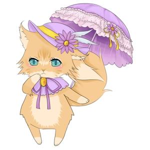 stariaさんのふわふわ長毛の猫の2頭身キャラクターデザインをお願いいたしますへの提案