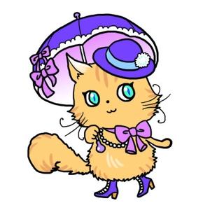 m_7banさんのふわふわ長毛の猫の2頭身キャラクターデザインをお願いいたしますへの提案