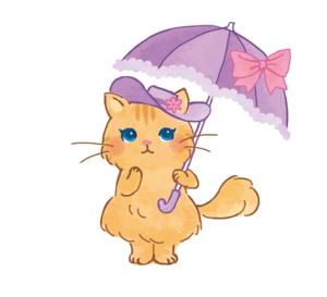 uetsuki_emiriさんのふわふわ長毛の猫の2頭身キャラクターデザインをお願いいたしますへの提案
