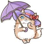 C0daShinさんのふわふわ長毛の猫の2頭身キャラクターデザインをお願いいたしますへの提案